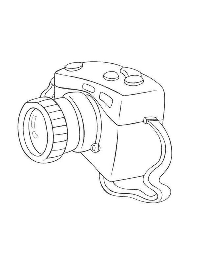 Free Coloring Page Of A Camera Printable