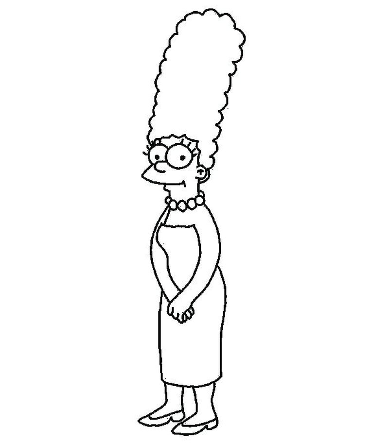 Free Coloring Pages Of The Simpsons Printable