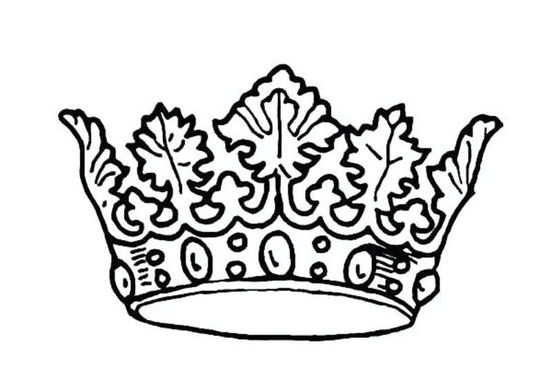 Free Crown Coloring Pages Printable Free
