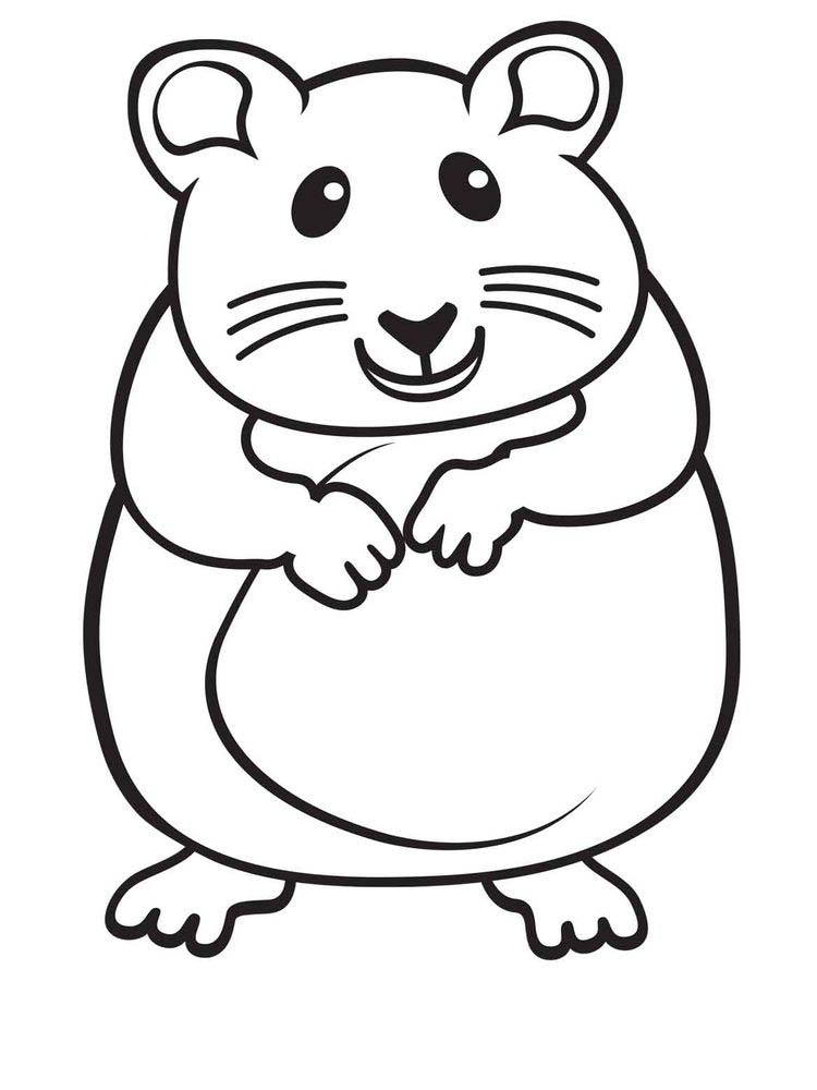 Free Cute Hamster Coloring Pages Printable