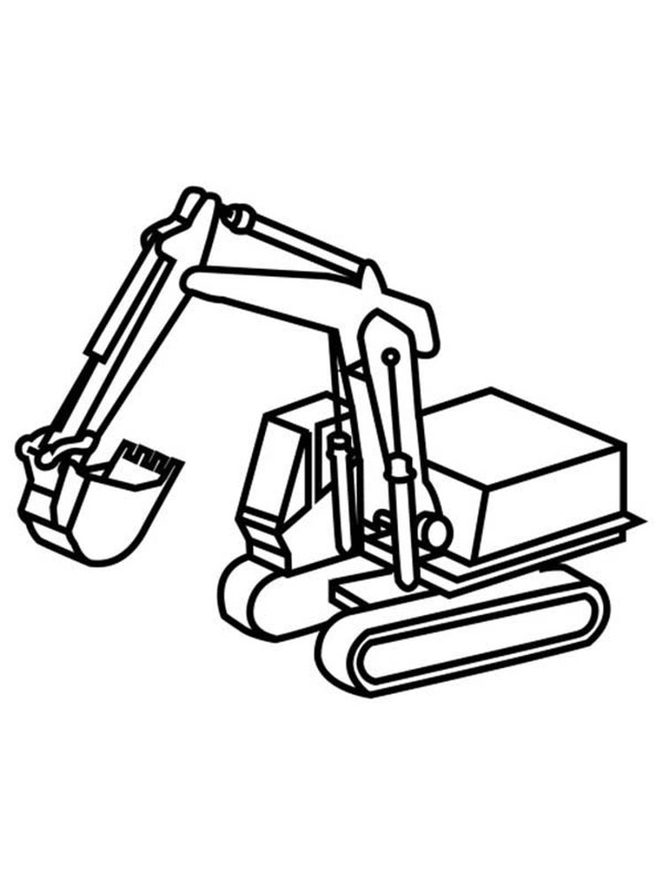 Free Excavator Coloring Pages Printable