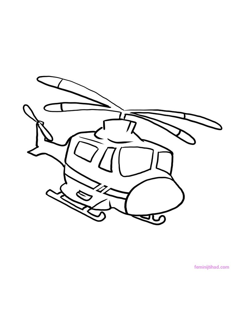 Free Helicopter Coloring Pages Printable