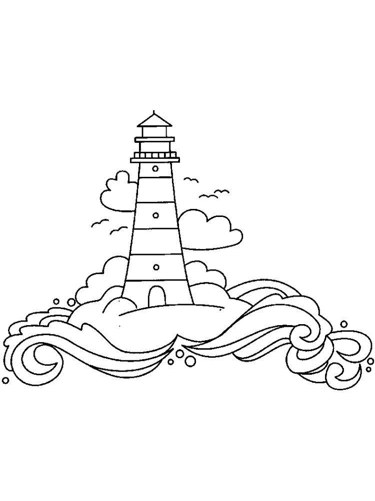 Free Lighthouse Coloring Pages Printable