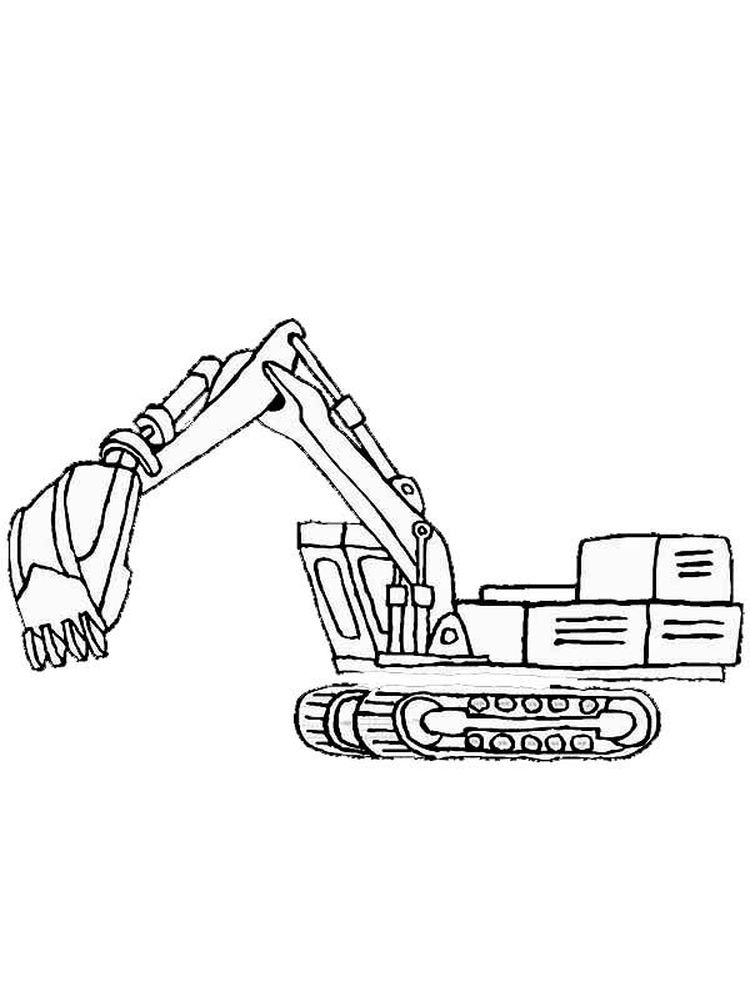 Free Printable Excavator Coloring Pages