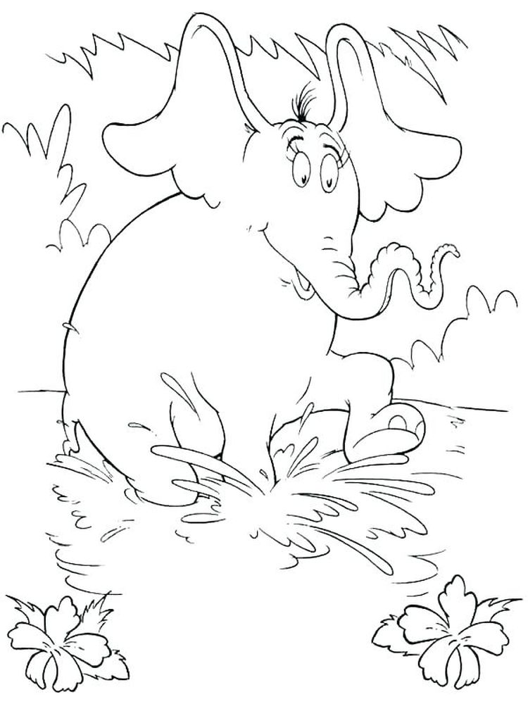 Free Printable Horton Hears A Who Coloring Pages Pdf