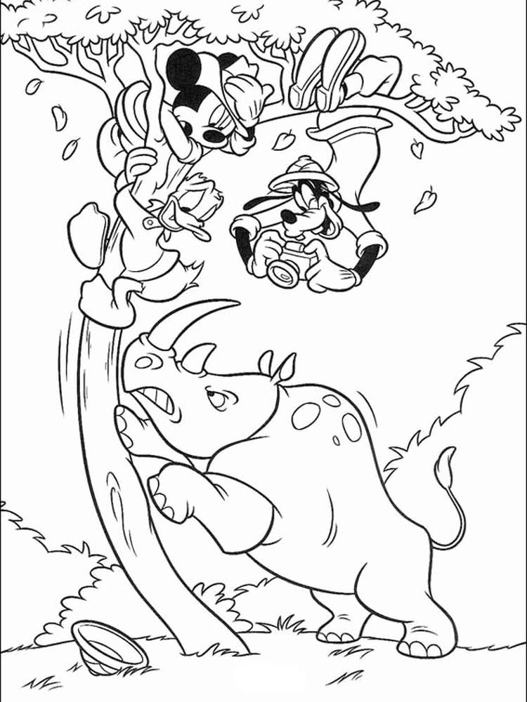 Free Rhino Coloring Pages Printable