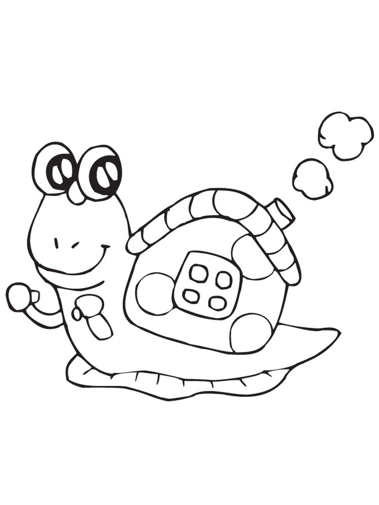 Free Turbo Snail Coloring Pages Printable