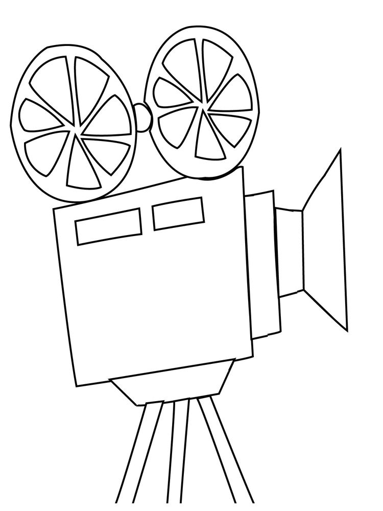 Girl With Camera Coloring Page Printable