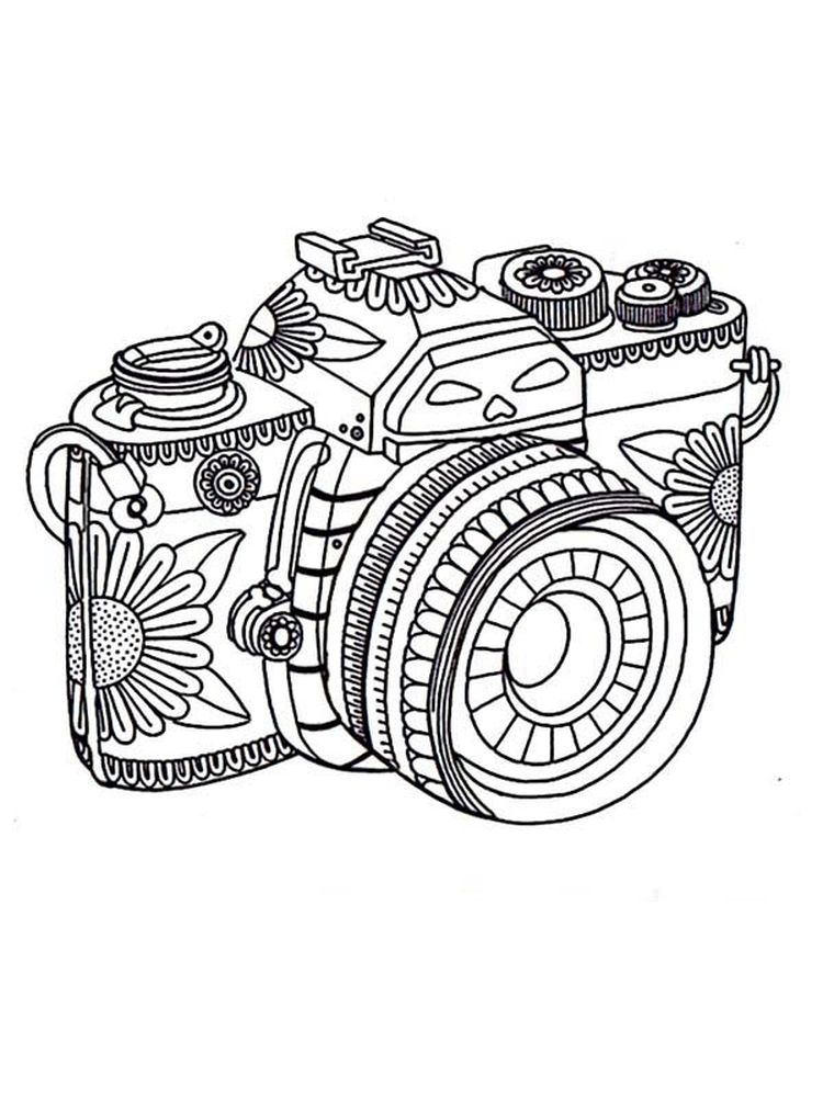 Girl With Camera Coloring Pages Printable