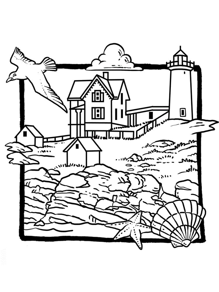 Michigan Lighthouse Coloring Pages