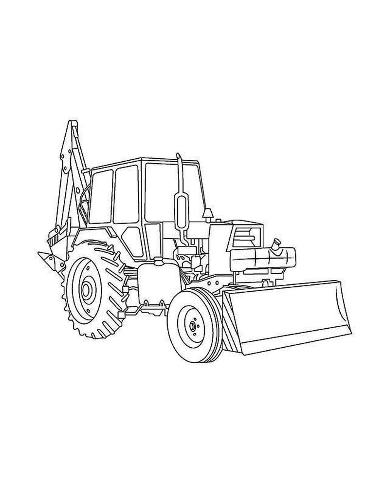 Mini Excavator Coloring Pages