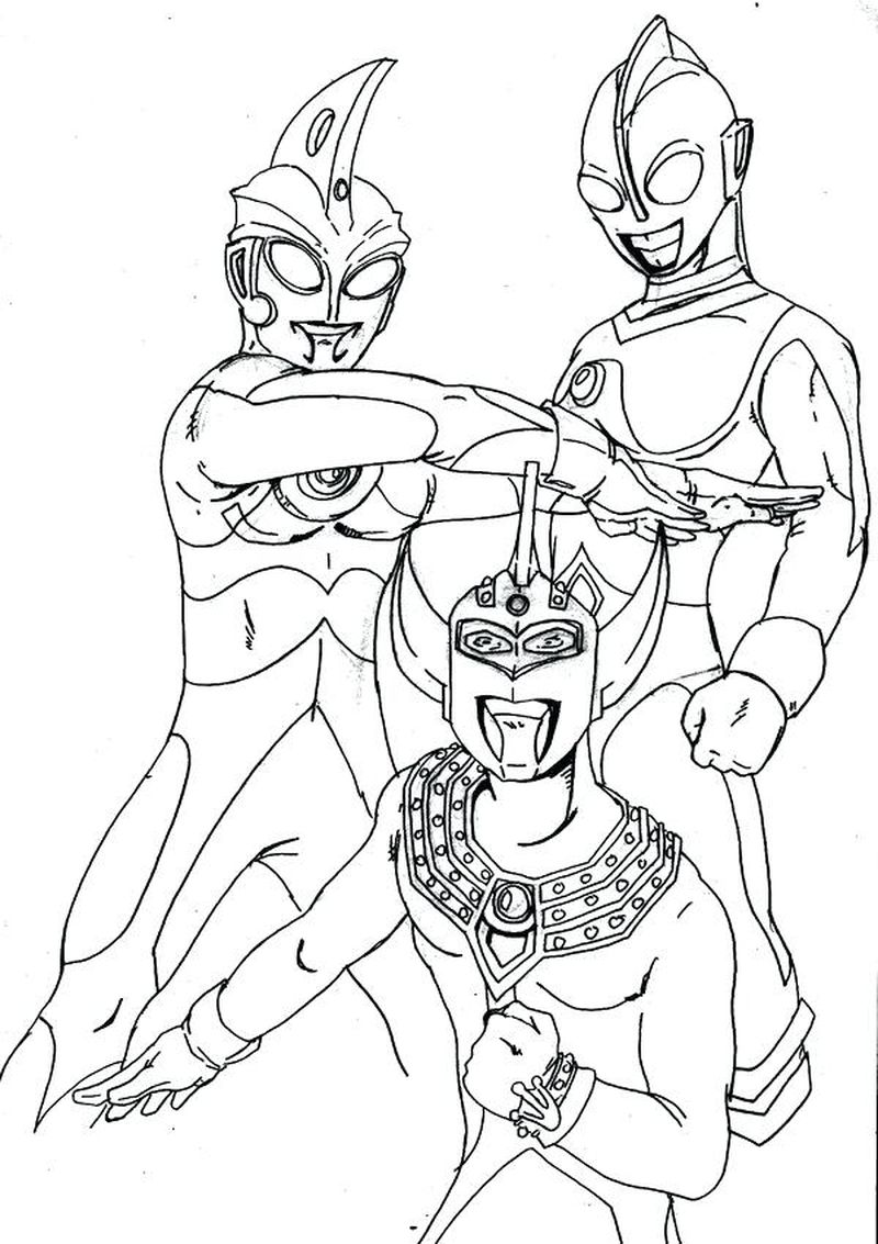 PRINTABLE ultraman colouring pages