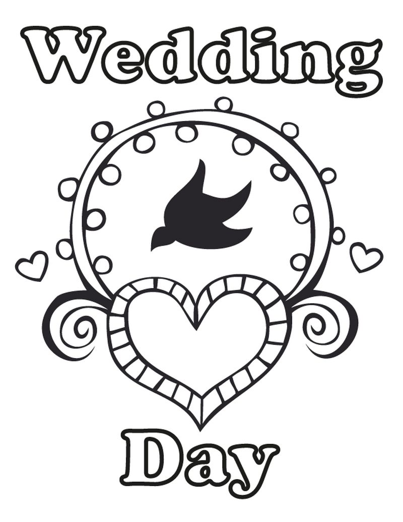 PRINTABLE wedding coloring book pages