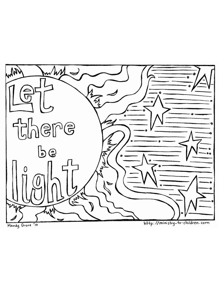 Printable 7 days of creation coloring pages free