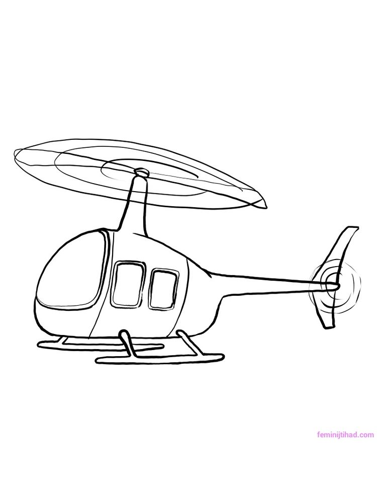 Printable Apache Helicopter Coloring Pages