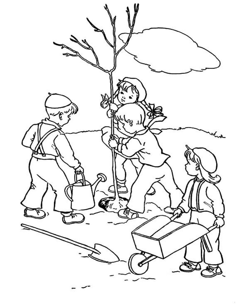 Printable Arbor Day Coloring Pages For Free