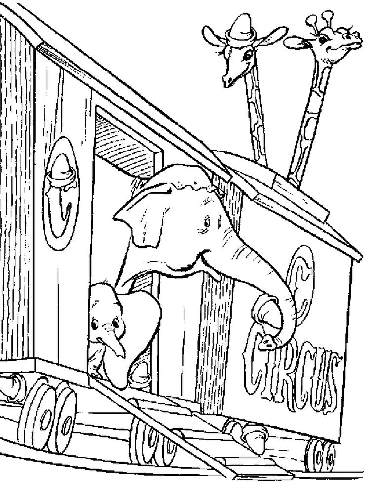 Printable Baby Dumbo Coloring Pages