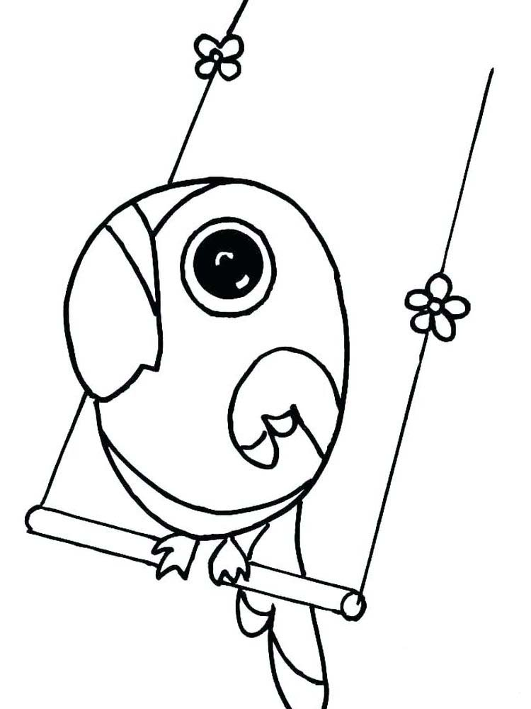 Printable Baby Parrot Coloring Pages