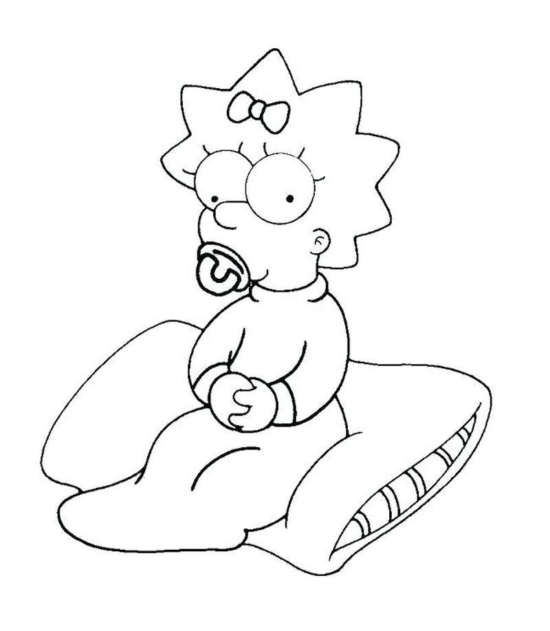 Printable Baby The Simpson coloring pages