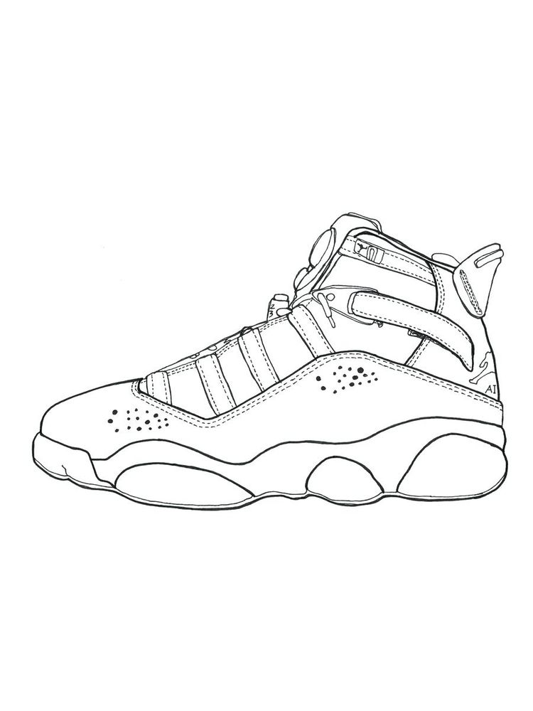 Printable Basketball Shoes Coloring Pages Pdf