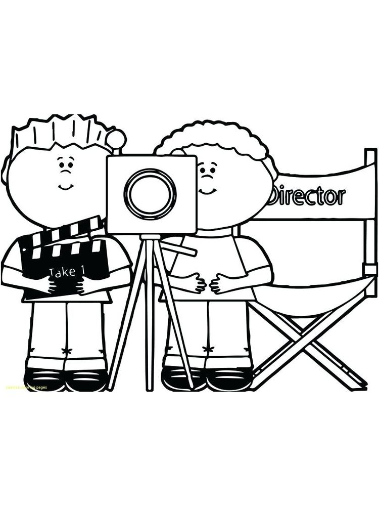 Printable Camera Action Coloring Page