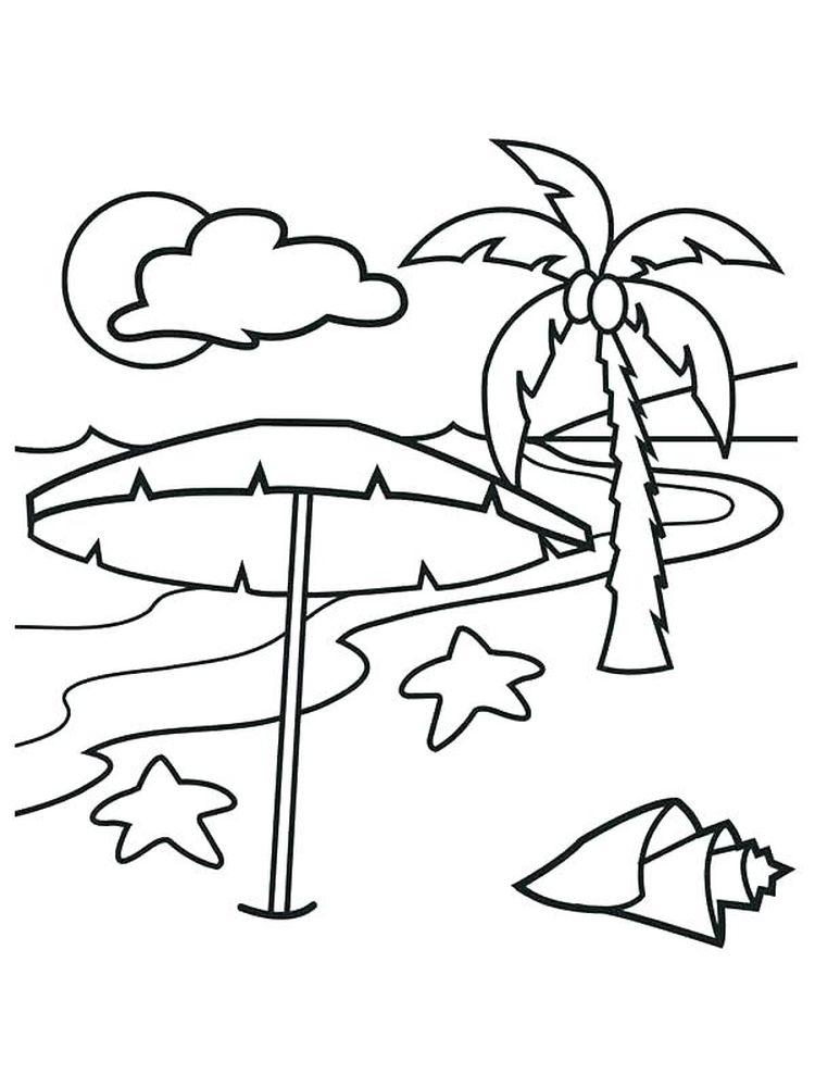 Printable Caribbean Island Coloring Pages