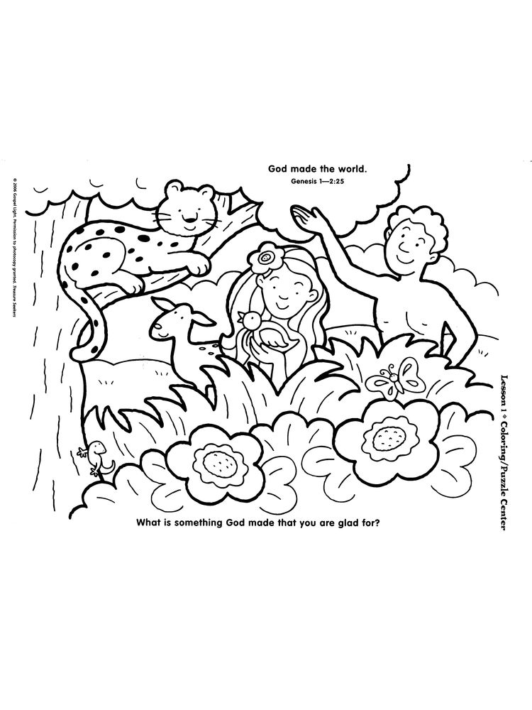 Printable Childrens Coloring Pages Days Of Creation