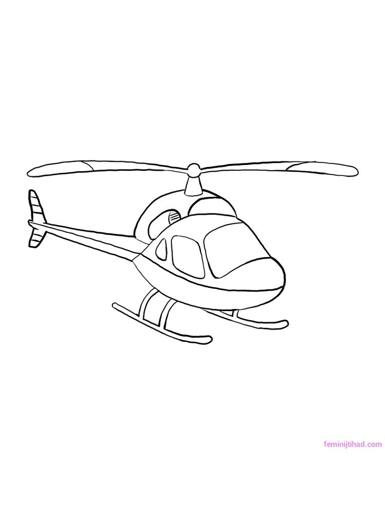 Printable Chinook Helicopter Coloring Pages