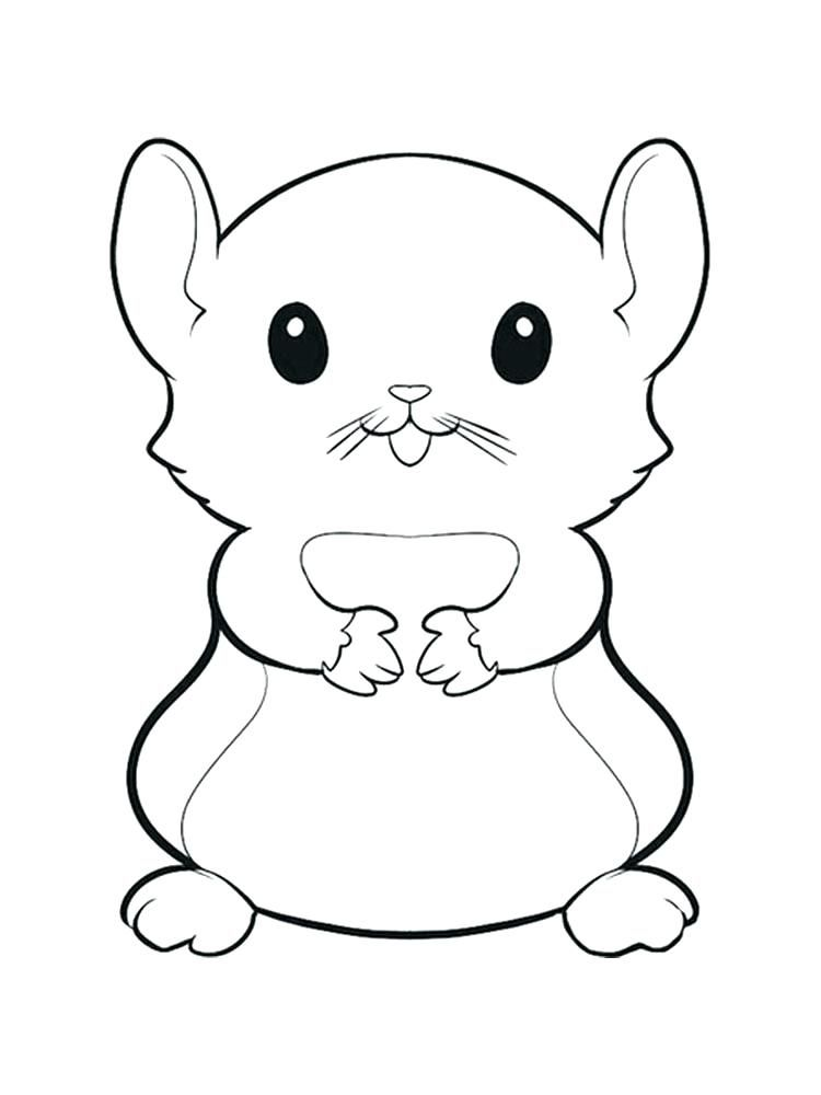 Printable Christmas Hamster Coloring Pages