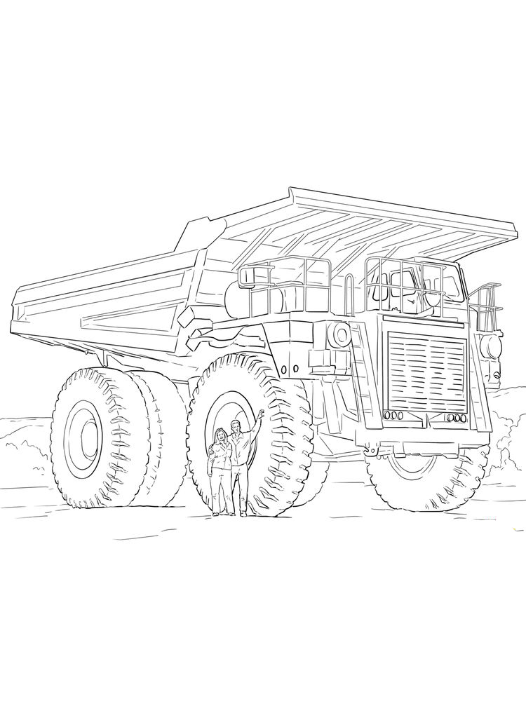Printable Chuck The Dump Truck Coloring Pages