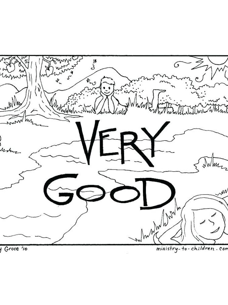 Printable Coloring Pages For Days Of Creation