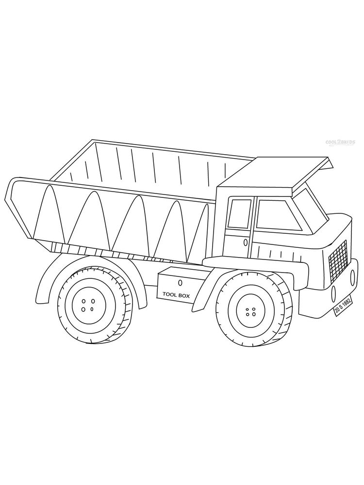 Printable Coloring Pages Of A Dump Truck