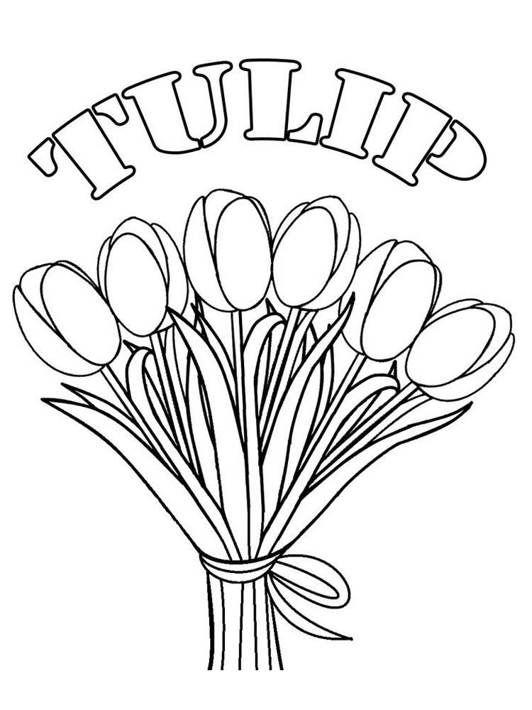 Printable Coloring Pages Of A Tulip