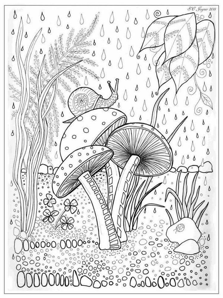 Printable Cone Snail Coloring Page
