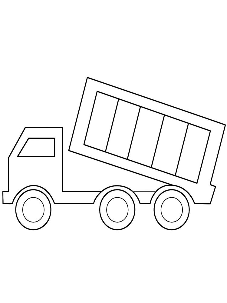 Printable Cute Dump Truck Coloring Page