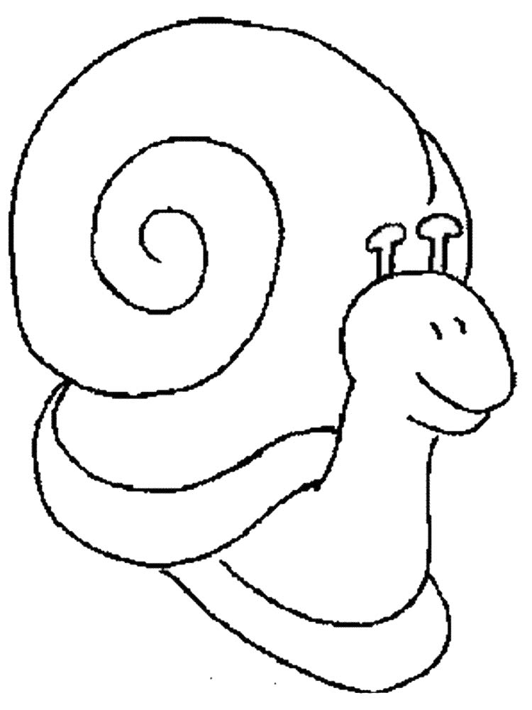 Printable Cute Snail Coloring Pages