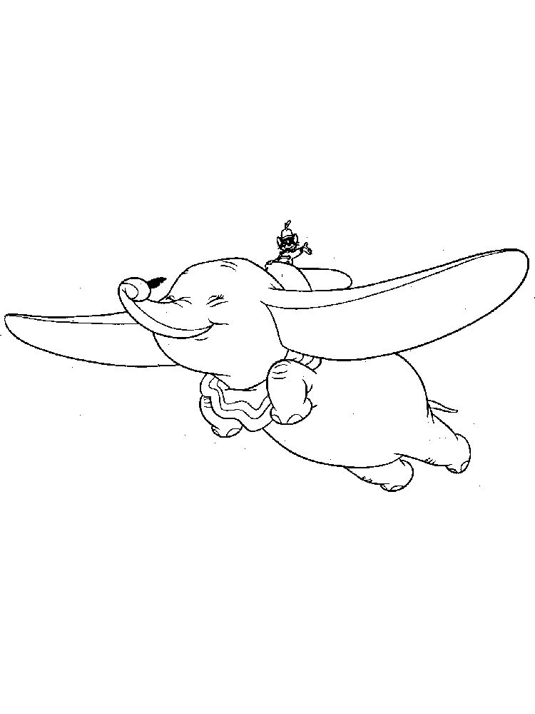Printable Disney Dumbo Coloring Pages