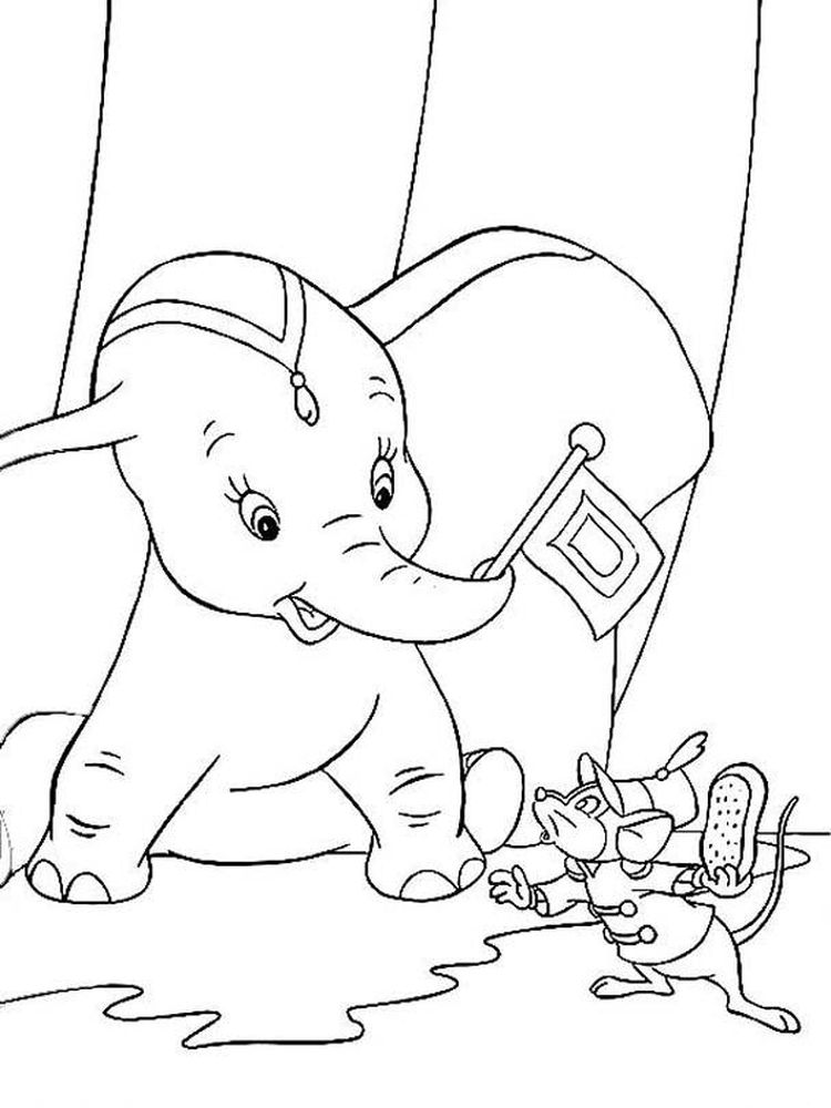 Printable Dumbo And Friends Coloring Pages