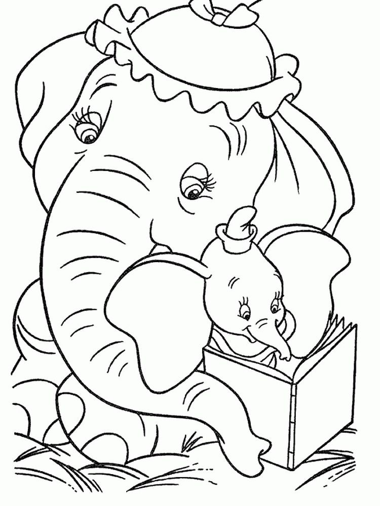 Printable Dumbo Christmas Coloring Pages