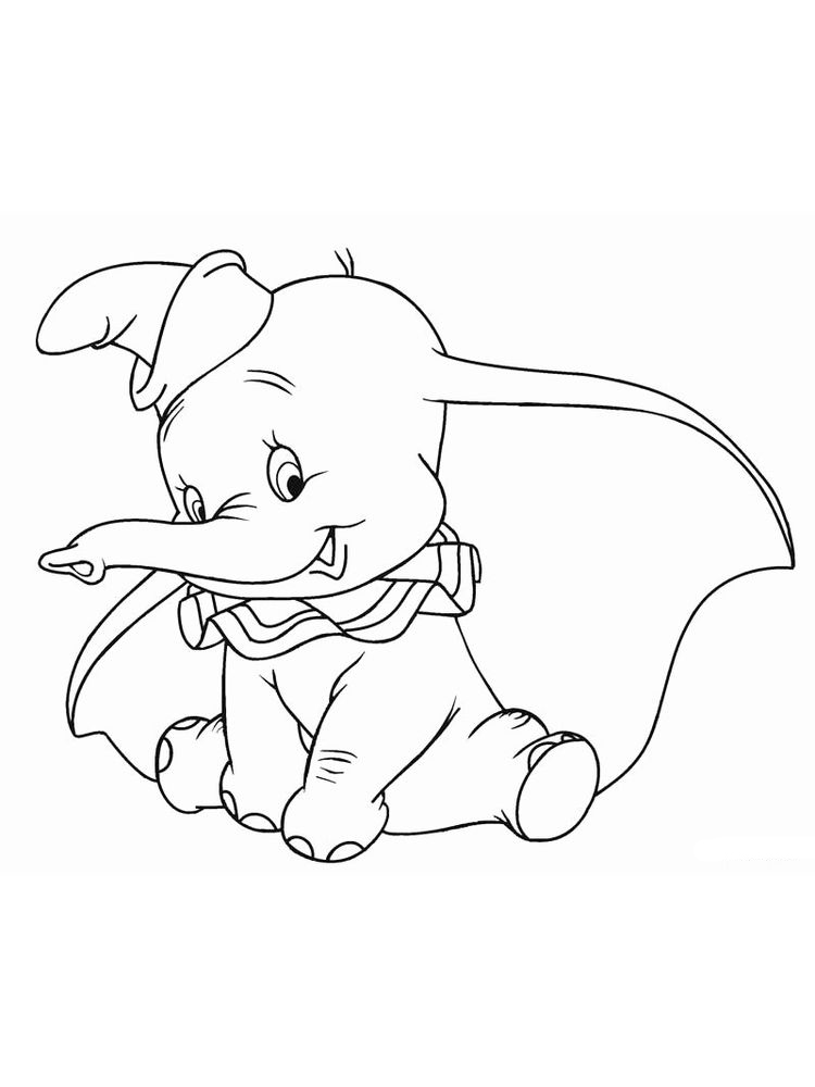 Printable Dumbo Coloring Pages Free Pdf