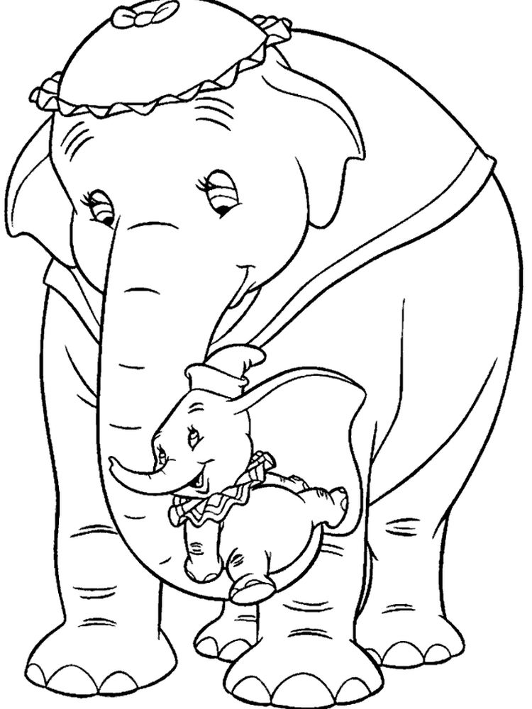 Printable Dumbo Coloring Pages Pdf
