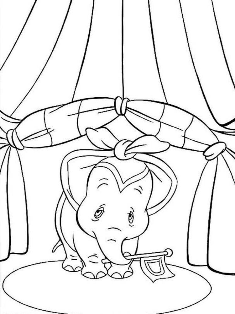 Printable Dumbo Coloring Pages Printable
