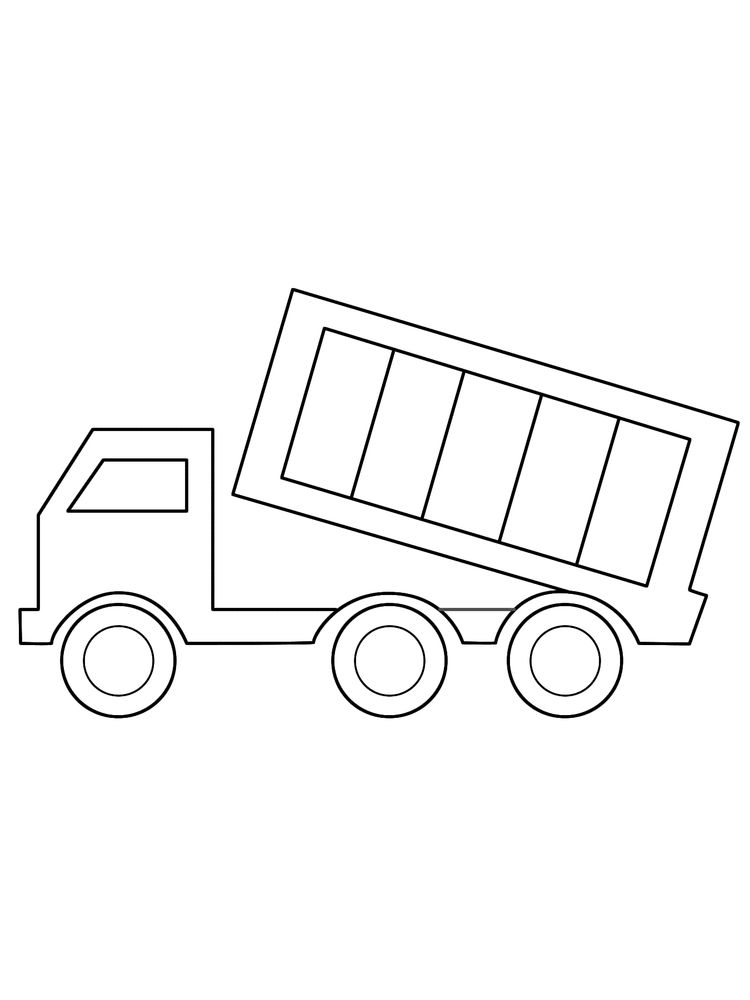 Printable Dump Truck Coloring Page For Preschoolers