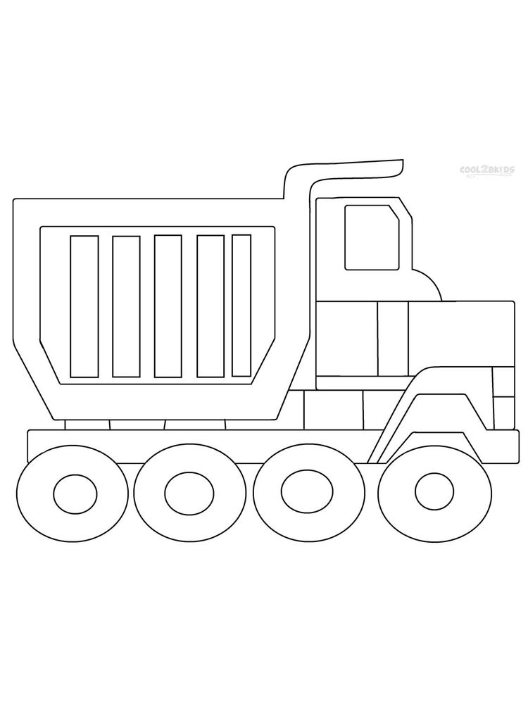 Printable Dump Truck Coloring Pages Free