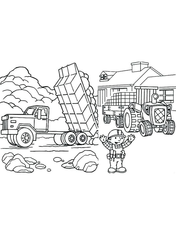Printable Dump Truck Coloring Pages Print