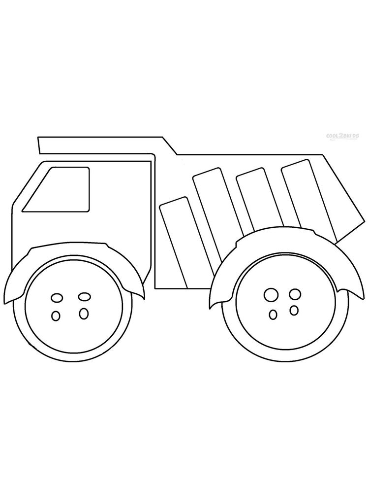 Printable Dump Truck Colouring In Pages