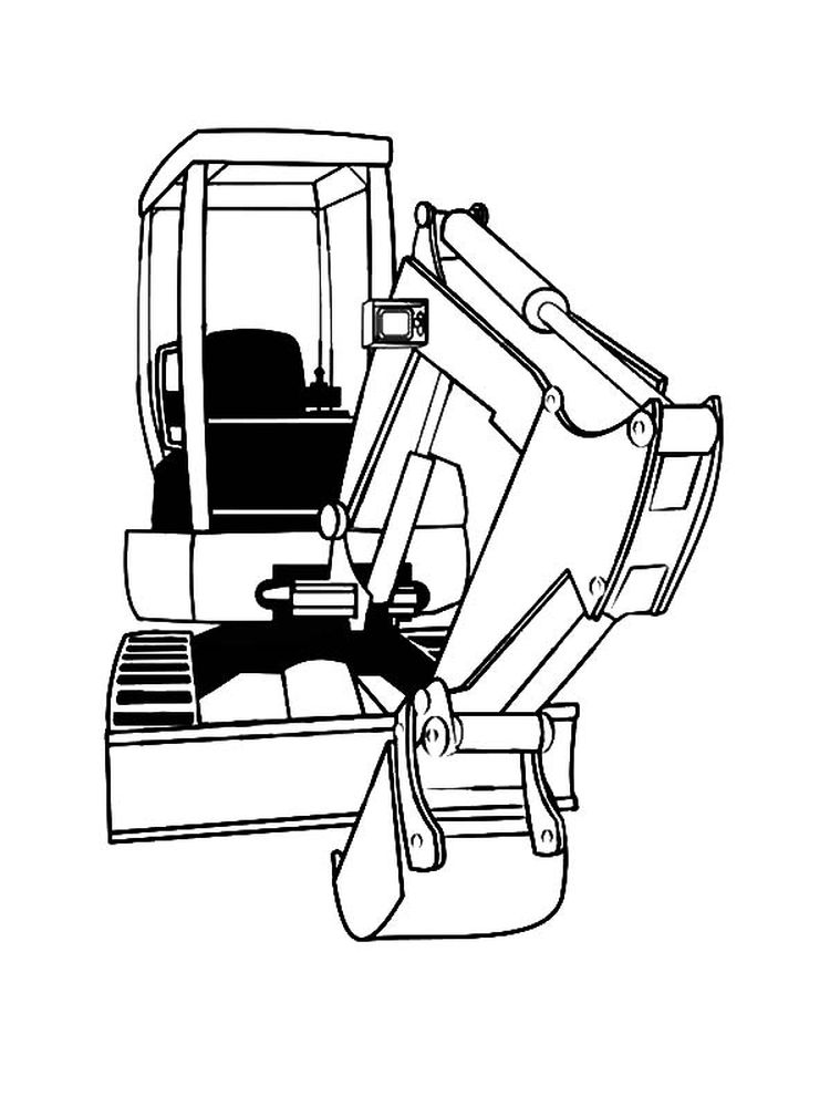 Printable Excavator Coloring Page Game