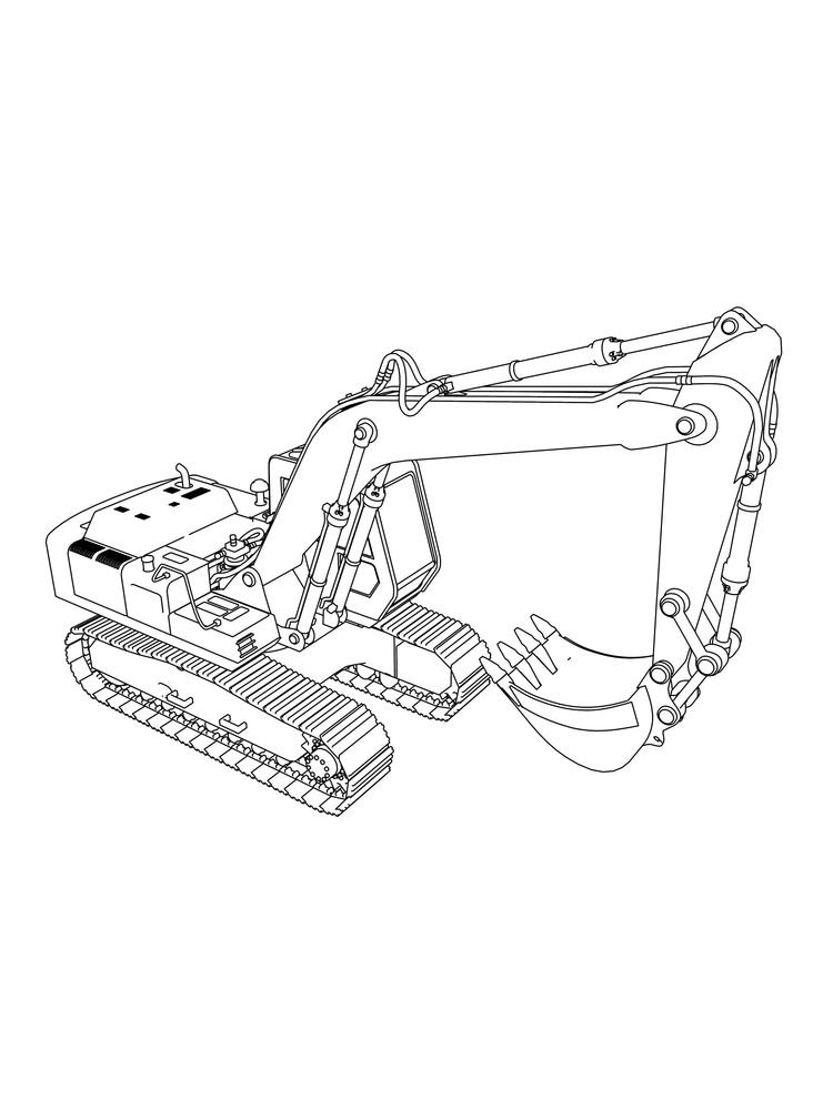 Printable Excavator Coloring Pages Free