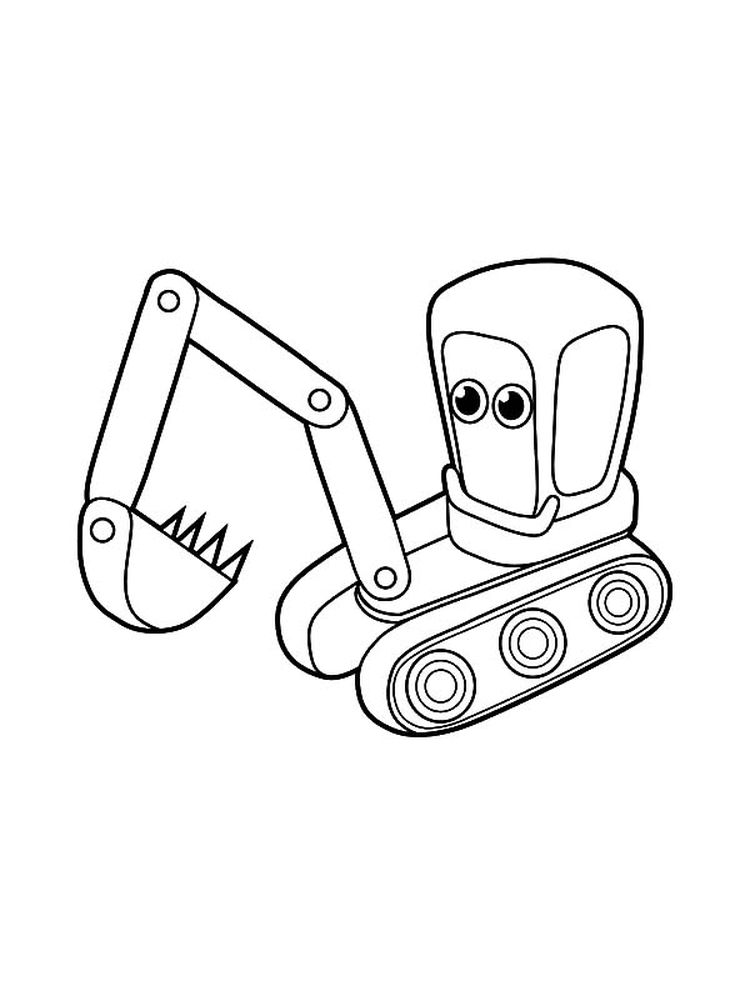 Printable Excavator Coloring Pages To Print