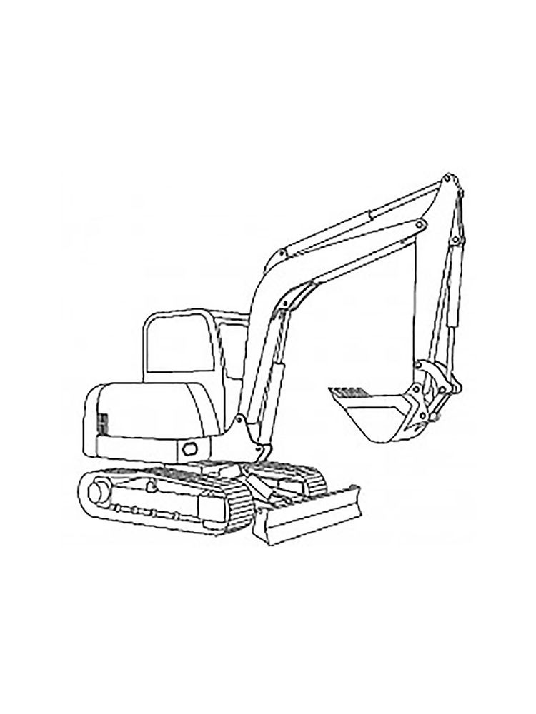 Printable Excavator Truck Coloring Pages